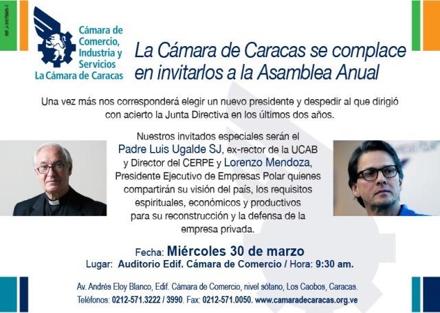 Asamblea Anual de la Cámara de Caracas