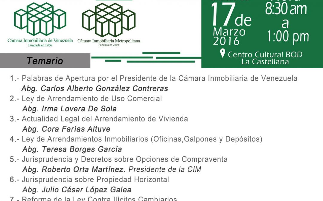 I Foro Legal Inmobiliario