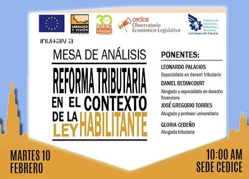 Mesa de Análisis: Reforma Tributaria en el Contexto de la Ley Habilitante