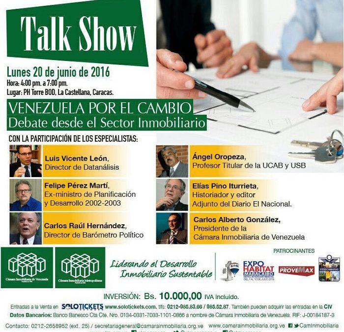 Venezuela por el cambio: Debate desde el sector inmobiliario