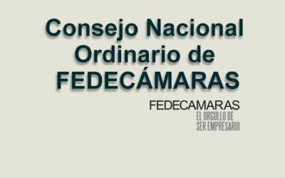 Convocatoria al Consejo Nacional Ordinario de Fedecámaras