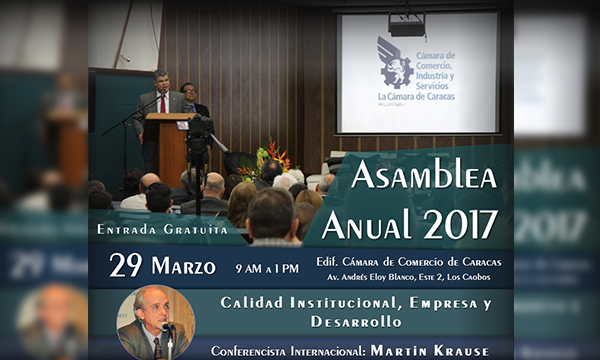 Cámara de Caracas celebrará su Asamblea este 29 de marzo