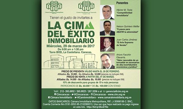 Ven a la Cima del Éxito Inmobiliario en el auditorio de la Torre BOD, en La Castellana