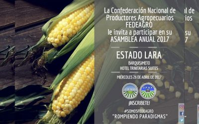 Fedeagro realizará su Asamblea Anual en Barquisimeto