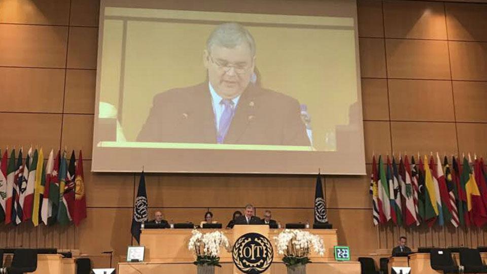 Discurso del presidente de Fedecámaras, desde la Conferencia de la Organización Internacional del Trabajo
