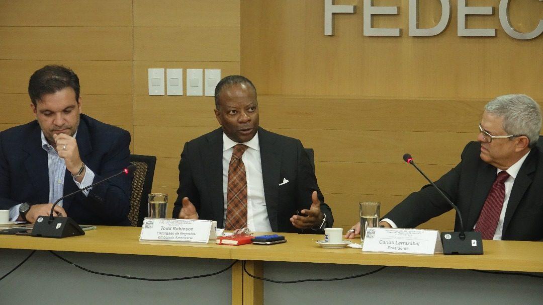 Fedecámaras y la Embajada de Estados Unidos realizan encuentro institucional