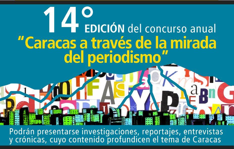 Abierto Concurso de Periodismo sobre Caracas