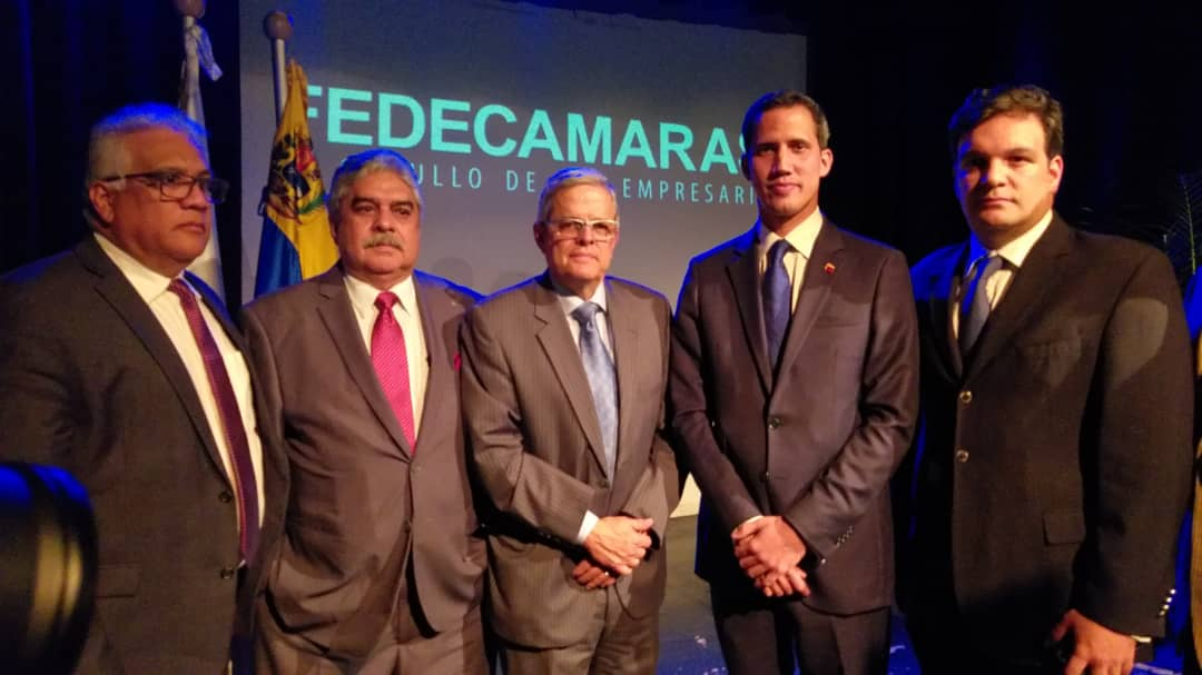 Juan Guaidó presenta Plan País a Fedecámaras
