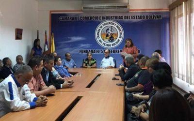 La cámara centenaria de comercio e industrias del estado Bolívar, juramenta su nueva junta directiva