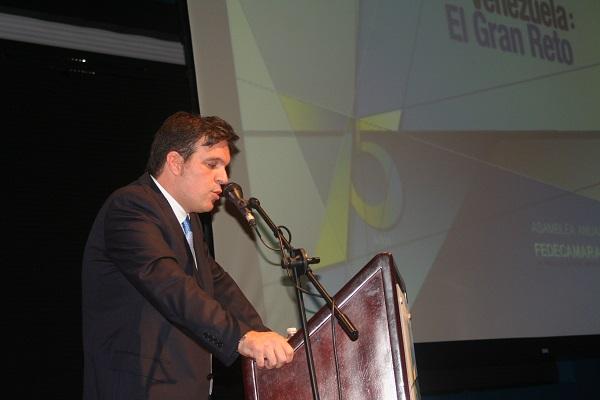 Ricardo Cusanno en su discurso de juramentación 75 Asamblea Anual Fedecámaras