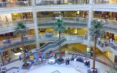 Ventas y visitas a centros comerciales han disminuido a estos niveles