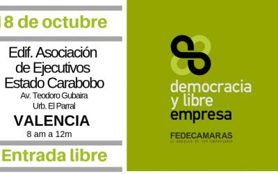 """Fedecámaras Carabobo invita a conferencia """"Democracia y Libre Empresa"""""""