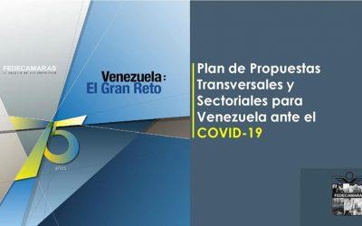 Fedecámaras: Plan de Propuestas Transversales y Sectoriales para Venezuela ante el Covid-19