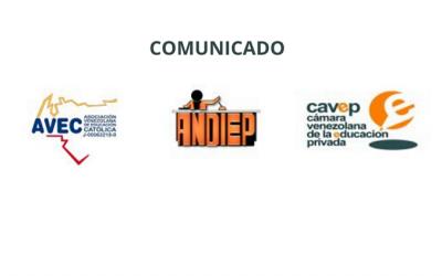 Comunicado de Andiep, Avec y Cavep a sus afiliados