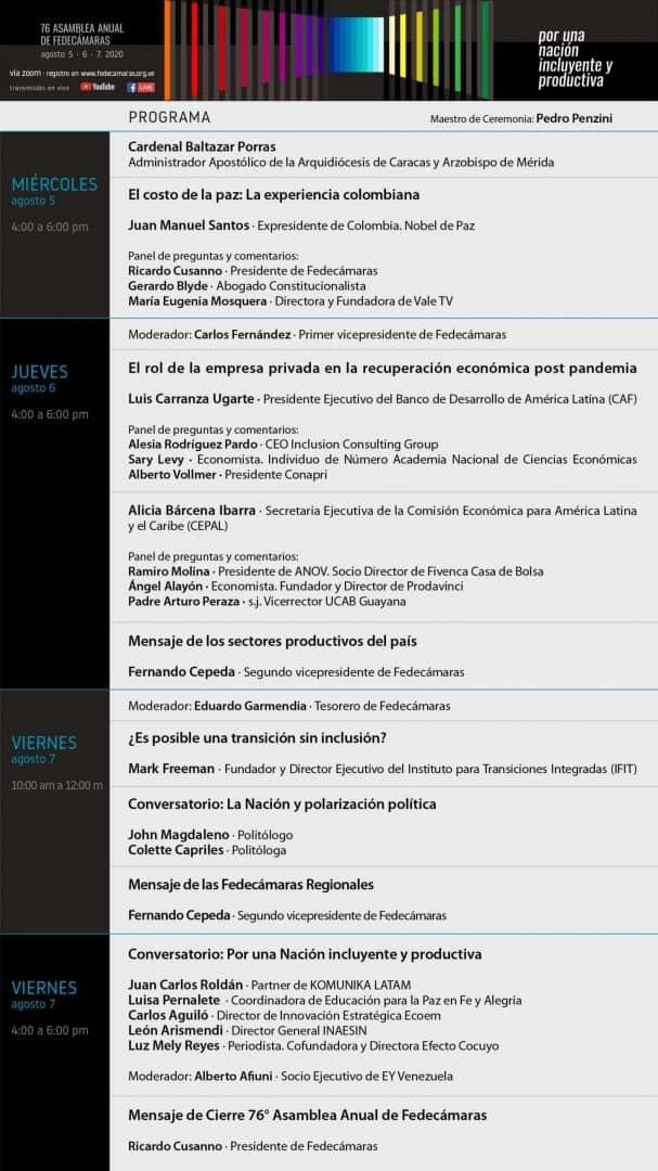 Asamblea 76 - Programa del Evento
