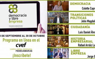 """Fedecámaras invita a participar en Programa """"Democracia y Libre Empresa"""""""