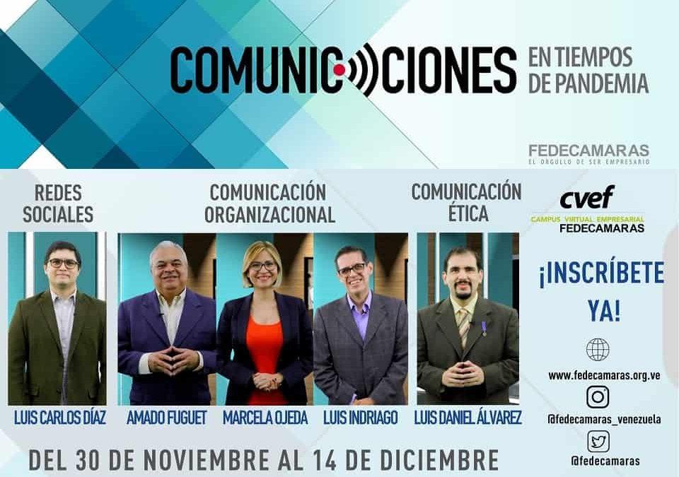 """FEDECAMARAS invita al programa de formación """"Comunicaciones en tiempos de pandemia"""""""
