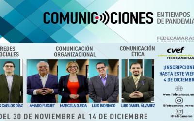 Fedecámaras extiende inscripciones hasta el #4Dic del programa «Comunicaciones en tiempos de pandemia»